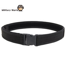Men Airsoft Military Adjustable Simple Waistband Combat Survival Heavy Duty 600D Nylon Web Belt Hunting Wear Accessories