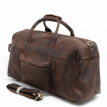 Vintage Crazy Horse Genuine Leather Travel bag men duffle bag luggage travel bag Leather Large Weekend Bag tote Big LI-1088