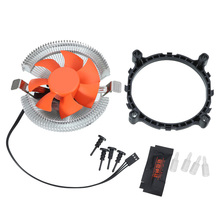 Best Price CPU Heatsink Cooling Fan Cooler for Computer PC Quiet Slient Cooling Radiator Fan for intel 775/1155/1156/AMD