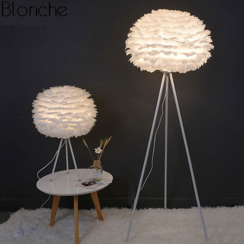 Lamps & Shades Humorous Modern Ostrich Feathers Branches Floor Lamp Copper Standing Lamp For Living Room Bedroom Floor Lights Home Decor Indoor Lighting