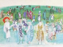 paintings of Raoul Dufy Mannequins de Poiret aux Cours artwork Landscape art High quality Hand painted