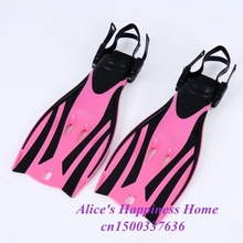 adjustable adult submersible long fins Snorkeling Flipper Submersible Swimming Snorkel diving Fins fcs