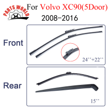 Partsworld Wipers For Volvo XC90 5 Door wagon 2008-2016 Windshield Front Rear Wiper Arm&Blade Rubber Brush Car Accessories