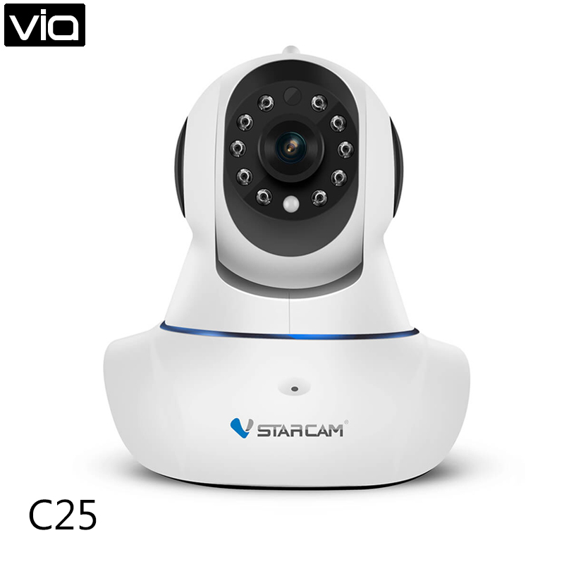Vstarcam C25 Free Shipping 720P HD WIFI Wireless IP Camera Two Way Audio 360 Degrees View Angle Triple Stream Security Camera <br>