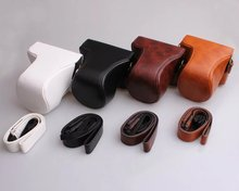 Black/White/Brown/Coffe/Pink PU Leather Camera Bag Case Cover For Canon EOS M10 15-45mm 55-200mm