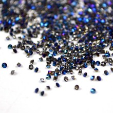 1.1mm Micro Rhinestones for Nails Design Pixie Crystal Strass Nail Art Decorations Strass Unha Crystal Glass MJZ1013