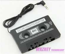 100pcs/lot*3.5mm jack CAR Audio CASSETTE TAPE ADAPTER FOR iPhone Samsung Galaxy S3/S4 Nano MP3 IPOD NANO CD IPHONE