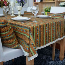 Orange Tablecloth Toalhas De Mesa Bordada Table Cover Linen Table Cloth Zakka Kitchen Home Textile Hot Sale High Quality