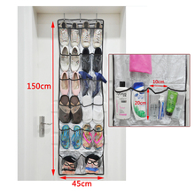 Multi-function Non-woven Shoes Storage Hanging Bag Wall Door Hanging Organizers Rangement Chaussure Front Shelf For Shoes 1PC(China)