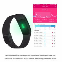 2017 Toptronics TP08S Heat rate monitoring smart band pk xiaomi smart band mi band