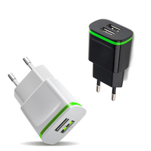 5V 2.1A Smart Travel Dual 2 USB Charger Adapter Wall Portable EU Plug Mobile Phone for Elephone P6000 Pro P7 mini P8000 S2 Plus