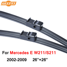 QEEPEI Specific-Fit Wiper Blade For Mercedes E W211/S211 2002-2009 26''+26'' Car Accessories For Auto Wipers Blade,CPA114-2