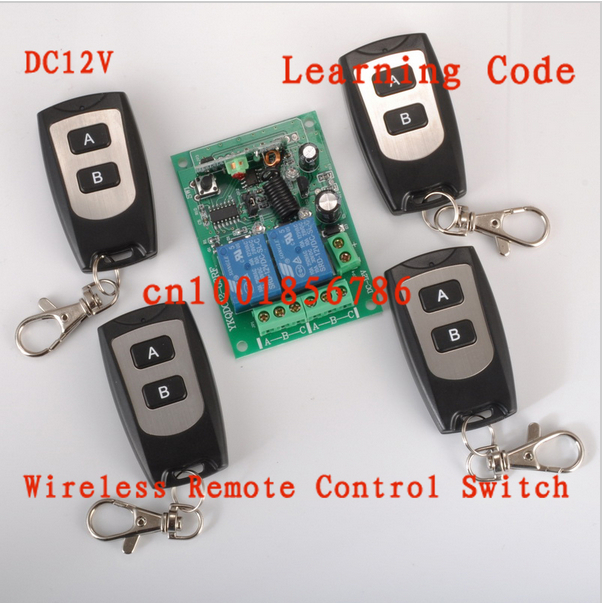 12V 2 CH RF Wireless Remote Control Switch system (transmitter &amp;receiver)Radio Controller 315/433MZH Momentary/Toggle/Latched<br><br>Aliexpress