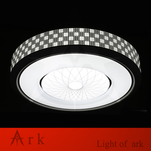 Modern Minimalism Modern dia30cm Ceiling LED lamp Geometric iron baked paint body Acrylic faceplate panel Bedroom light fixture(China)