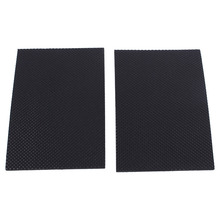 2Pcs/Lot 9.8cmx15cm Black Non-slip Self Adhesive Floor Protectors Ottomans Furniture Sofa Desk Chair TRP Rubber Feet Pads