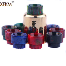 NEW XFKM 810 Drip Tips Epoxy Resin Drip Tip Wide Bore Mouthpiece for Kennedy24 Battle Goon 528-A RDA Atomizers 1pcs Retail(China)