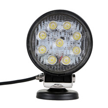 40Pcs 27W Round LED Work Light Lamp 2V IP68 Off Road High Power ATV UTV 4x4 Tractor Spot/Flood Light ATV UTV Work driving Light