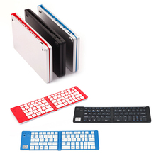 Foldable Wireless Ultra-Slim Portable Bluetooth Keyboard with Aluminium for iPad Mini/Air 2/Pro IOS Windows Android Q9 X(China)