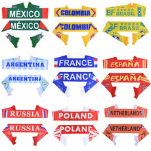 Russia World Cup 2018 football Scarf Soccer Fan Scarf National Team 32 Teams Mexico Flag Banner Football Cheerleaders Scarf(China)