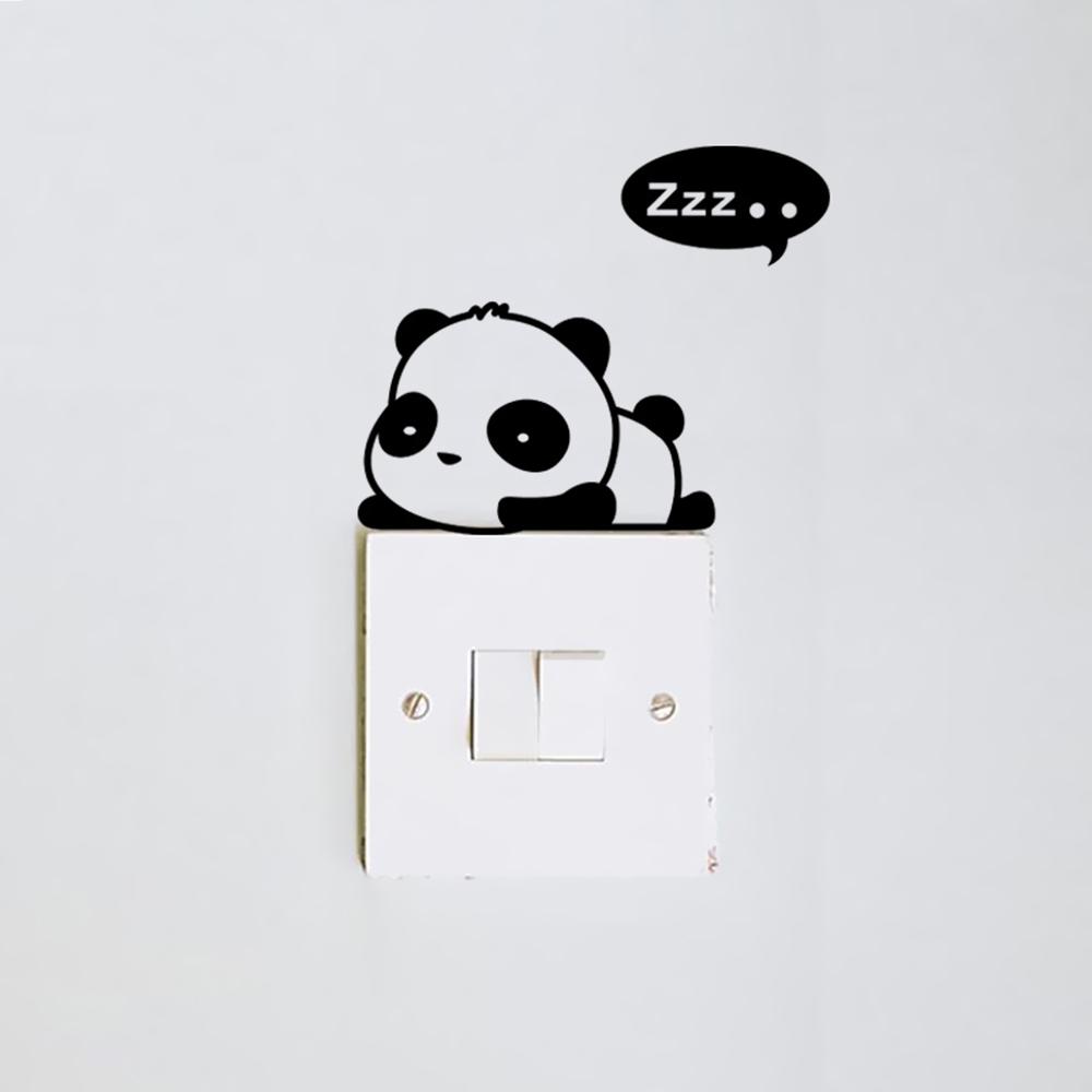 HTB1TvO0o3nH8KJjSspcq6z3QFXaq - DIY Cute Cat Panda Switch Sticker