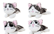 1Pcs/Set Lovely 20cm Christmas Birthday Gifts Japan Anime Figure Cheese Cat Plush Stuffed Toy Doll Pillow Cushion