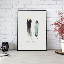 Art Feather Canvas Painting Poster Fashion Artwork Wall Pictures Posters And Prints For Living Room Home Decoration No Frame