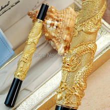 JINHAO 41 golden Dragon pattern roller ball pen for collection luxury stationery executive office pens for gift 001