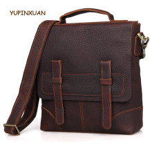 YUPINXUAN Luxury Retro Cow Leather Handbags for Men Vintage Crazy Horse Leather Messenger Bags Real Leather Handbags as Gifts(China)