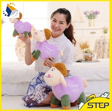 2016 Hot Sale High Quality Love Heart Sheep Plush Toy Cute Colorful Lamb Stuffed Animal Toys Baby Toys Gifts for Kids ST229(China)