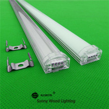 10pcs/lot 40inch 1m led strip channel , seamless led aluminium profile matte clear cover for 3528,5050,5630 strip(China)