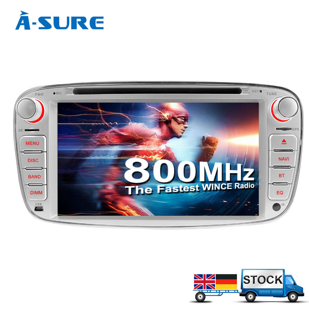 "A-Sure 7"" 2 Din Cortex A9 Car DVD GPS For Ford Focus C-MAX Galaxy Mondeo Kuga With 3G Stereo Radio BT SWC Car Info Navigation(Hong Kong)"