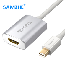 SAMZHE 4K UHD Mini DP to HDMI Adapter Cable Video Cable Thunderbolt Mini Displayport Male to HDMI Female for Macbook PC(China)