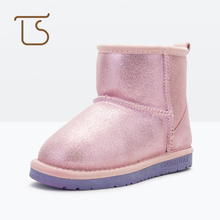 T.S. Children Boots Winter Kids Girls boys Snow Boots Ankle Shoes skid-proof Waterproof Rubber Sole warm kids Boots Size25-38(China)
