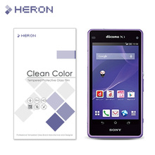 0.3mm Tempered Glass for Sony Z2 mini 9H Arc Edge 2.5D  High Transparent Screen Front Back Protector with Retail Package