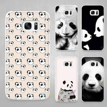 Panda Cute Hard White Coque Shell Case Cover Phone Cases for Samsung Galaxy S4 S5 S6 S7 Edge Plus