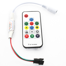 SP103E Mini RF Controller With 14 Keys Wireless Remote For WS2811/WS2812 LED Strip Light DC5V/12V Colourful (C5)