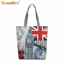Hcandice Best Gift London Big Ben Canvas Tote Casual drop ship beach Bags Women Shopping Bag Handbags a22