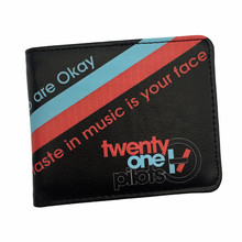2017 New Arrival American Hot Rock Band Music Wallets Twenty One Pilots /Pantera /Ramones/Red Hot Chili Peppers/Pink Floyd Purse(China)