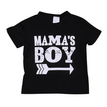 Summer Kids Mama Boy Printed Tops Baby Boys Short Sleeve Cotton T Shirt Summer Cute Kids Boy Cothes(China)