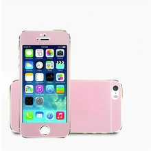 Explosion Proof Tempered Glass Screen Protector For iphone 5 5S SE Case Luxury Colorful Bling Pink Front+Back Film Cover
