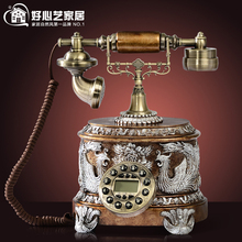 Good art style new fashion style antique telephone landline telephone peony 8653 Decoration home classical ID backlit phone(China)