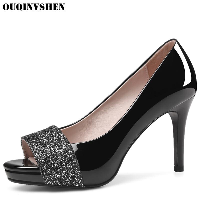 OUQINVSHEN Classic High Heels Peep Toe Pumps Round Toe Thin Heels Women Pumps Shallow Casual Fashion Pumps Platform High Heels<br>