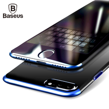 Baseus PC Hard Case For iPhone 8 7 Cover For iPhone 8 7 Plus Case Anti-scratch Electroplating Protective Phone Bag Shell Coque(China)
