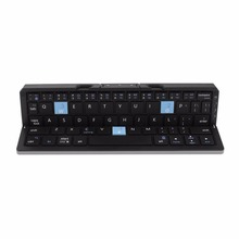 New Bluetooth Keyboard Travel Portable Folding Metal Keyboard For IOS/Android Mobile Phone Windows Tablet Universal(China)