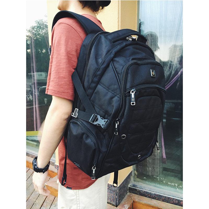 Swiss Backpack Military Backpack Male Multifunctional 38L Large Travel Bagpack Mens Waterproof 15 Laptop Backpack Sac a doc<br>