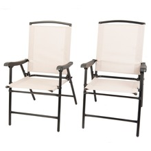 Naturefun Foldable Outdoor/ Indoor sling Dining Chair, Portable Garden Balcony Leisure Chair