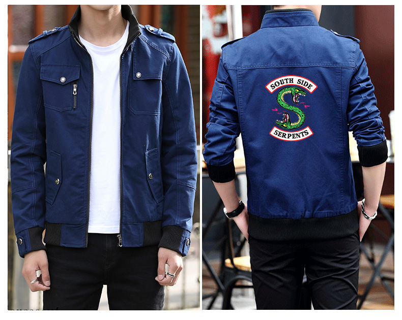 Frdun Tommy Riverdale Jacket in Men's Clothing & Accessories Printed Personality Streetwear High Quality Fashion Winter jacket