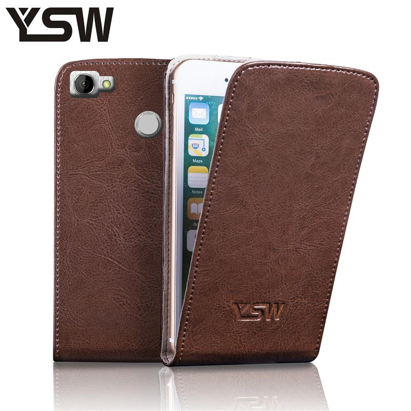 YSW Homtom HT50 Genuine Leather Case Luxury YOURSWAY Free Gift Screen Protector Fashion Suction Buckle Cover
