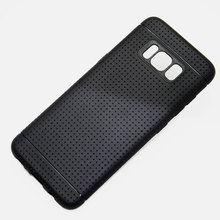 for Samsung Galaxy S8 case net hot fashion silicone soft TPU material Imitation slip design black color