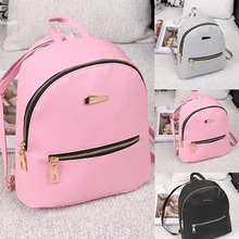 New solid preppy style rucksack quality women shopping backpacks ladies travel bags Teenage Student  school bag shoulder bag
